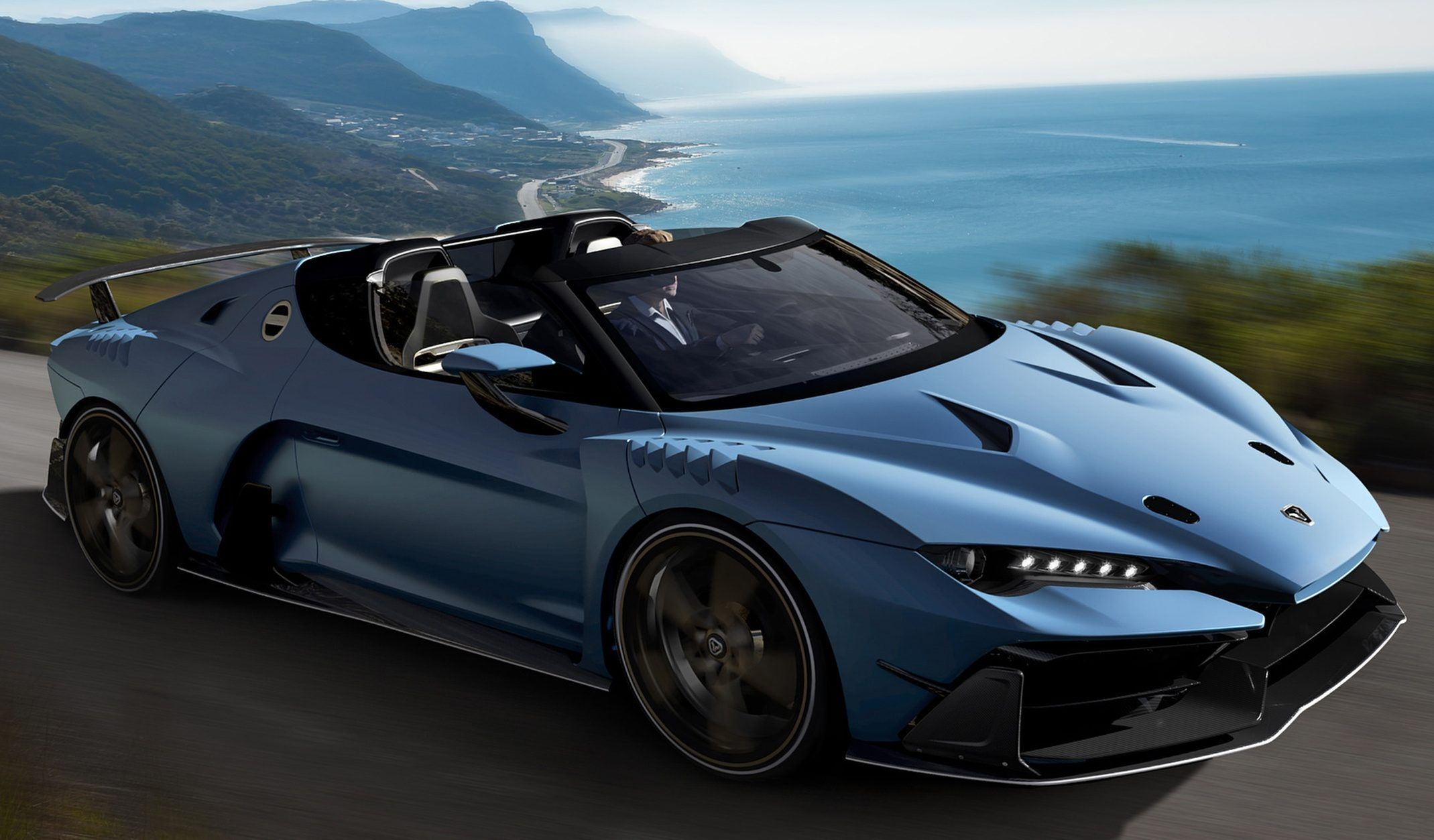 ZeroUno Duerta Roadster by Italdesign Old sports cars