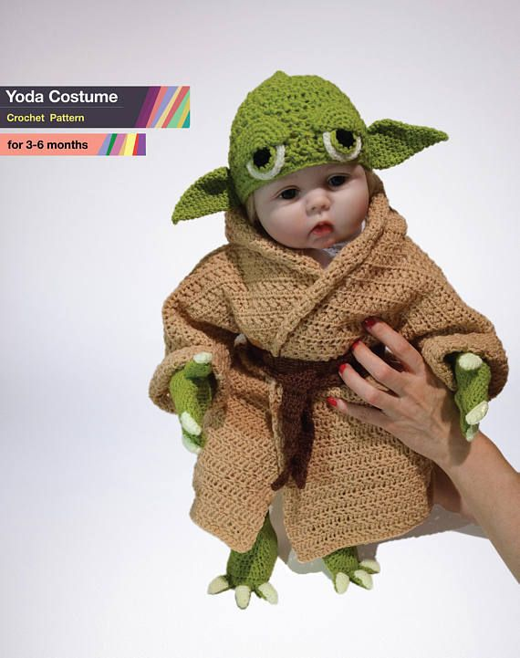 Baby Yoda Costume Crochet PDF Pattern Star Wars Costume Baby ...