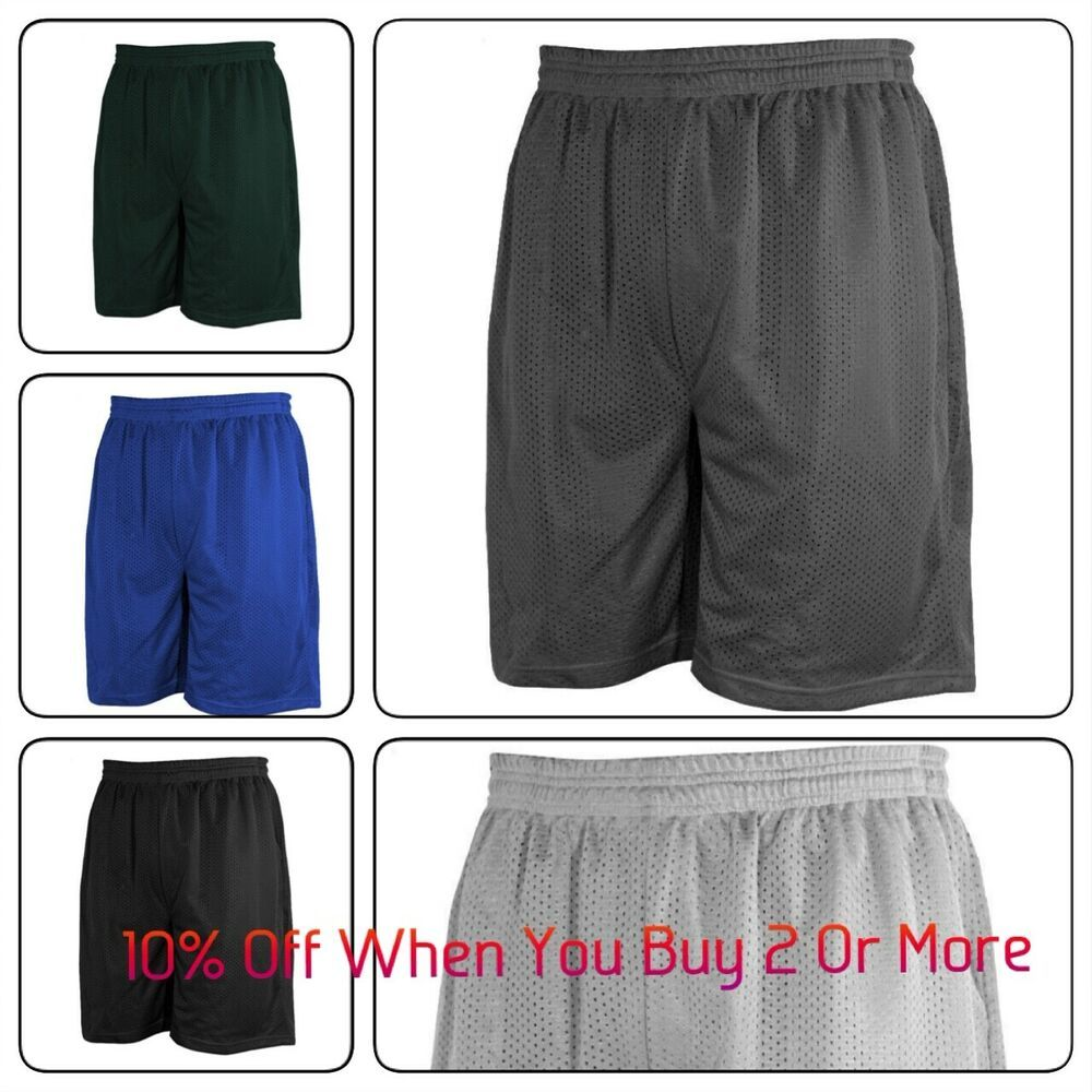 "Gym Basketball Men/'s Size S-3XL 10/"" Sport Shorts w// Pocket Russell Athletic"