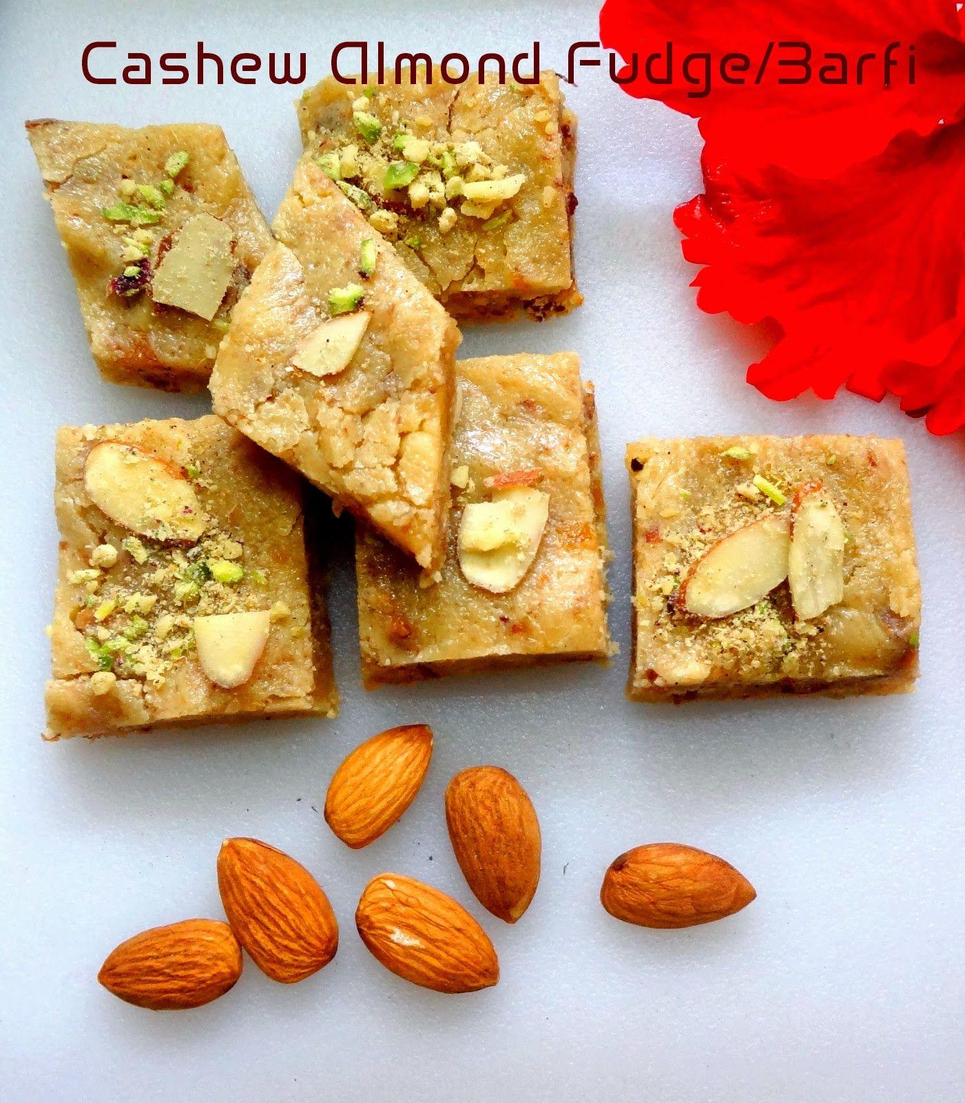 Your Everyday Cook: Cashew Almond Barfi/Fudge...Diwali Recipe.
