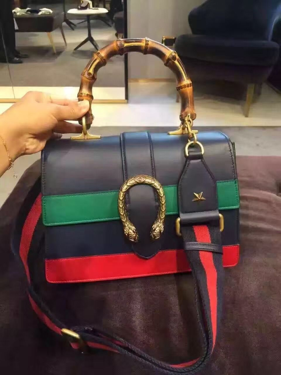 3a2e48dad4c Gucci Dionysus Multicolor Leather Top Handle Bag 421999 Discount Price  www.lamodabags.com  bamboo  guccibamboo  guccihandlebag  guccibag
