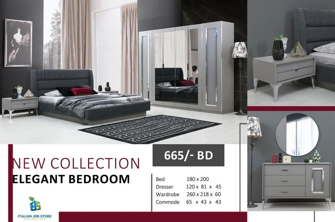 Elegant Modern Bedroom Full Set Color Gray Made In Turkey Price 665 Bd With Delivery Fixing Pay To Reserve Yo Elegant Bedroom Bedroom Bed Bed