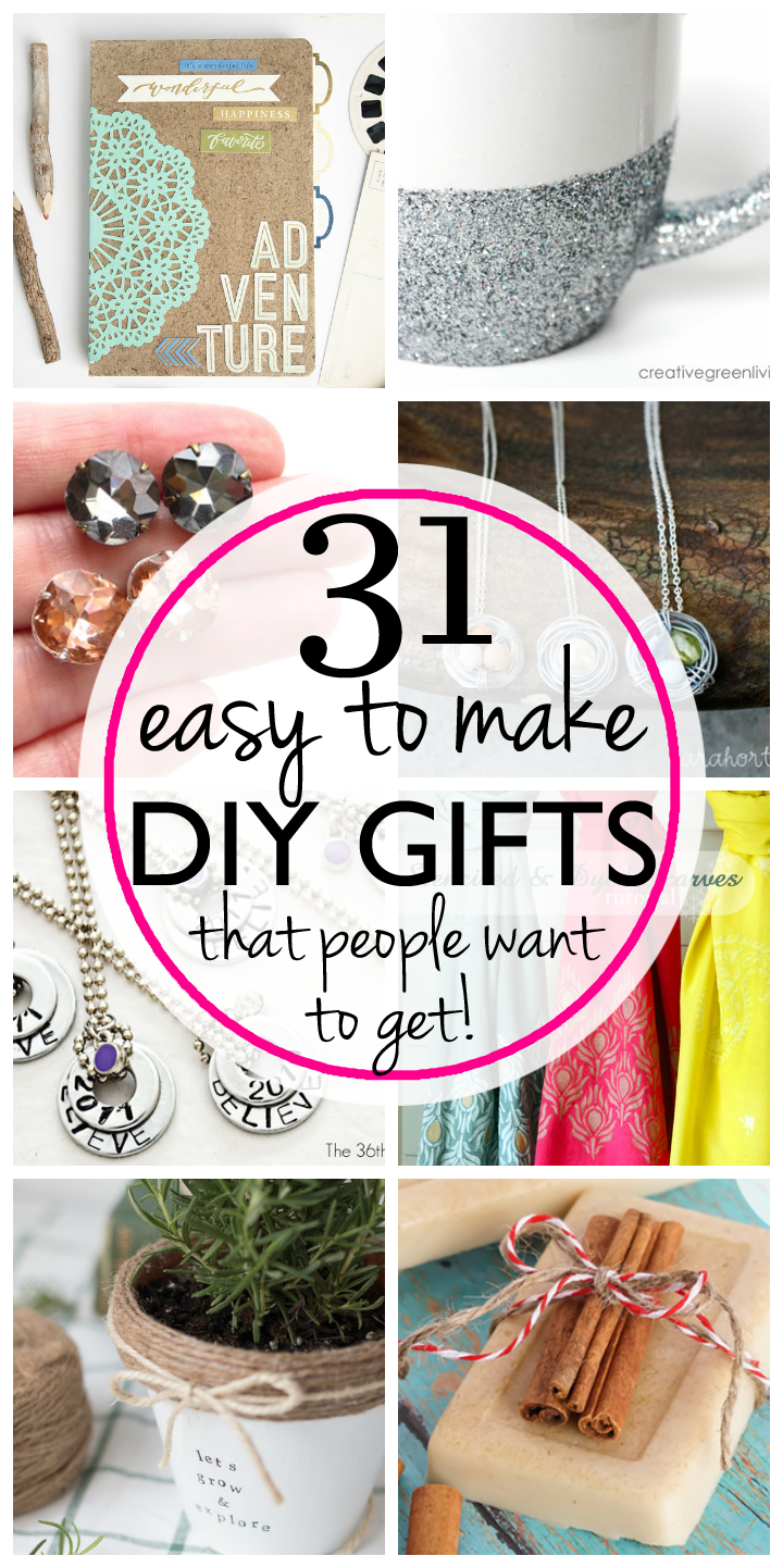 31 Easy & Inexpensive DIY Gifts Your Friends and Family