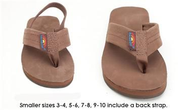 abd960525 Kids Premier Leather Single Layer w back strap. Kids Premier Leather Single  Layer Rainbow Sandal with Backstrap ...