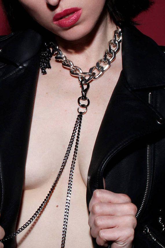 leash on slave collar Wife