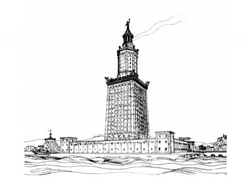 #MOHI87 Lighthouse of Alexandria coloring page Mystery of