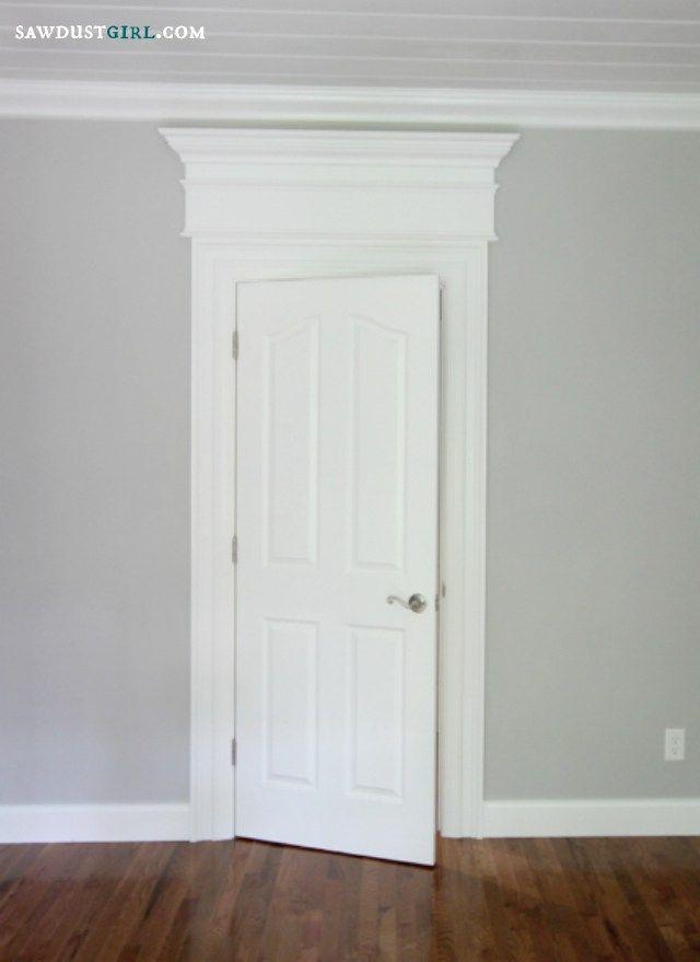 Door And Window Trim Molding With A Decorative Header Sawdust Girl Interior Door Trim Moldings And Trim Window Molding