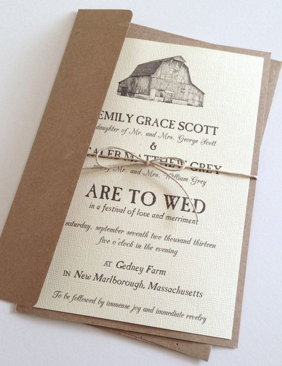 Barn Wedding Invitations Rustic Weddings And Country Themes
