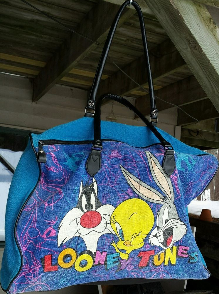 Looney tunes Sylvester Tweety Bugs Womens Denim Handbag Shoulder Tote Bag #LooneyTunes #ShoulderBag