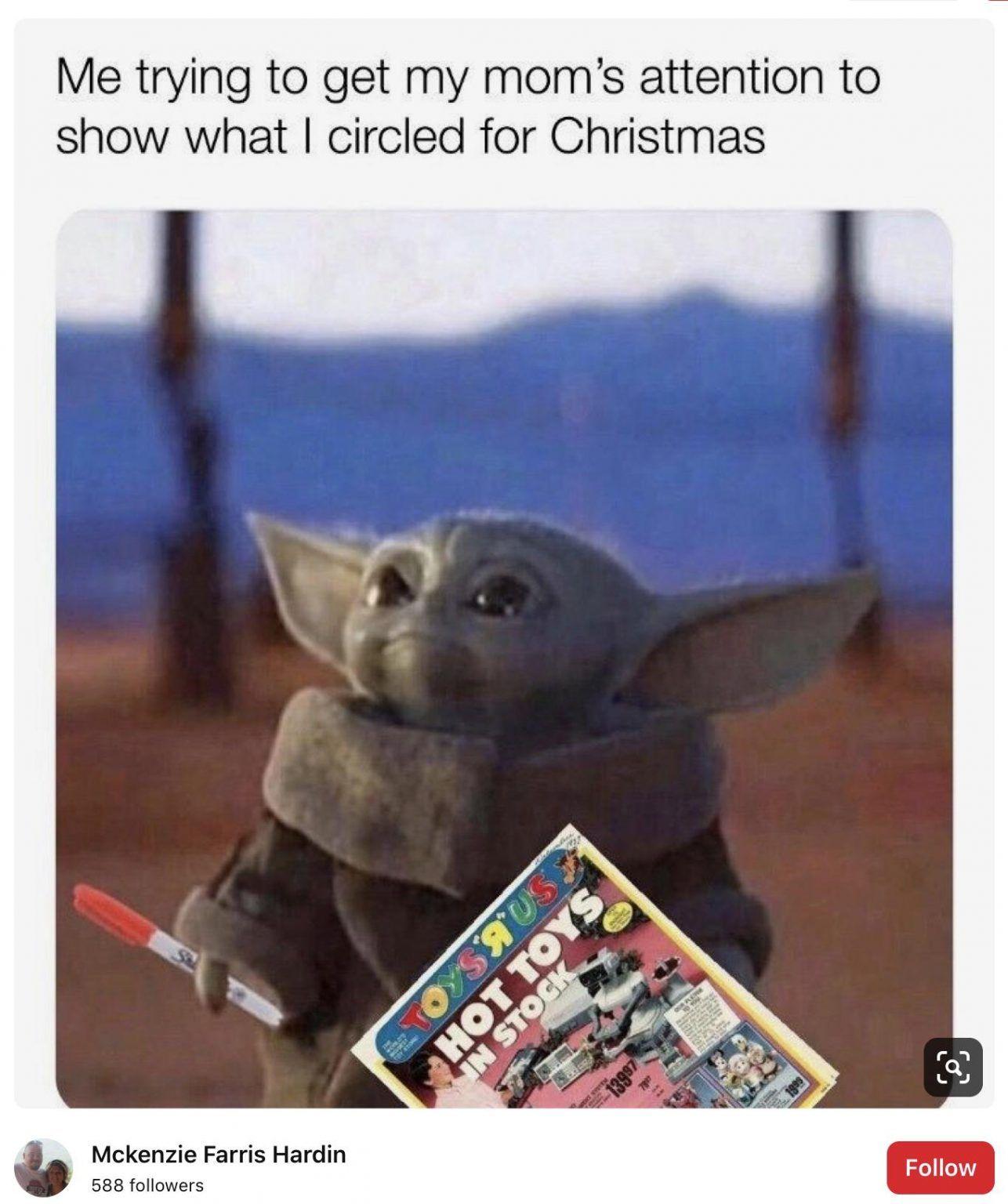 19 Adorable Baby Yoda Memes For Christmas 2020 12 Funny Star Wars Memes Yoda Funny Yoda Meme