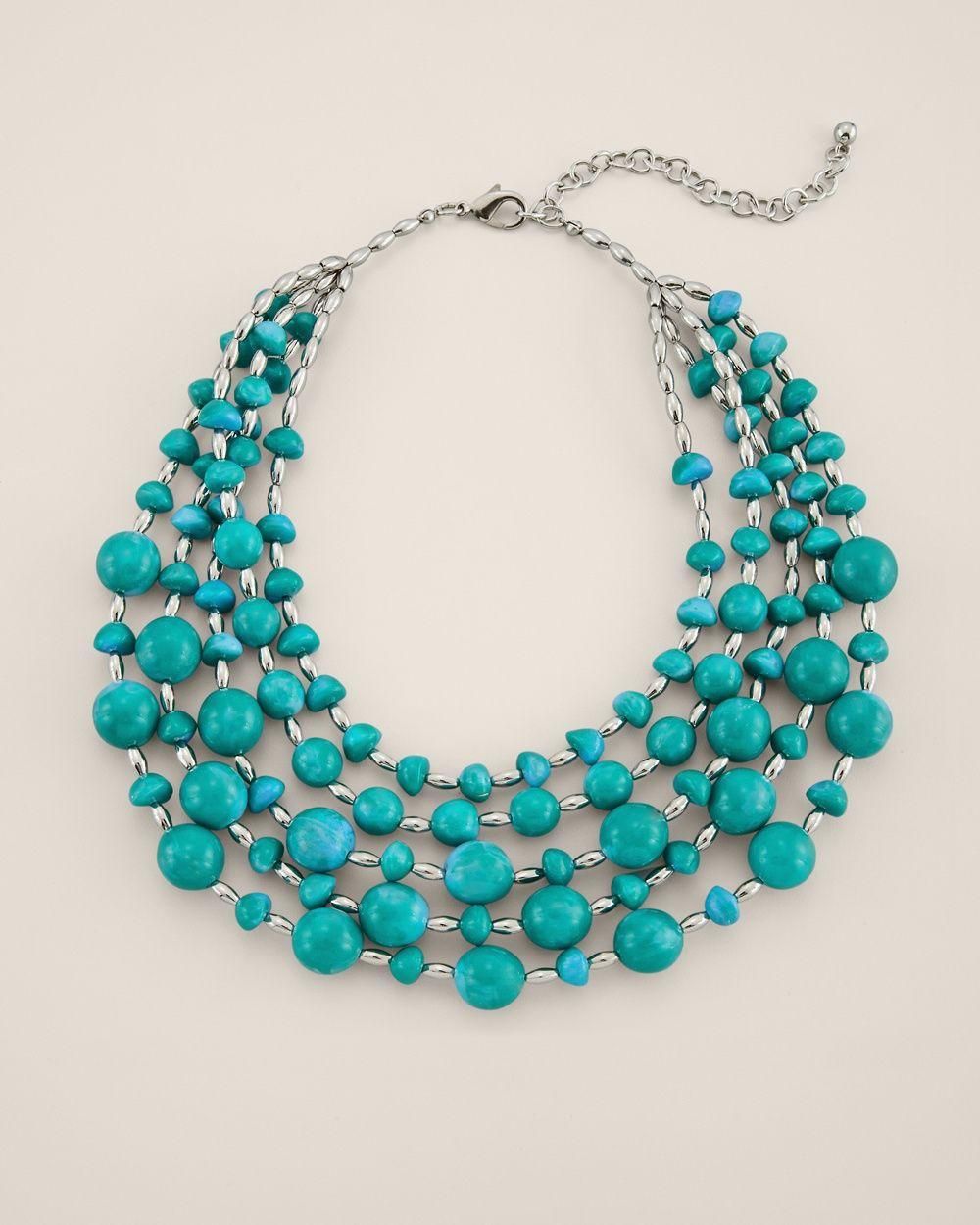 Green Dream Multi-Strand Necklace