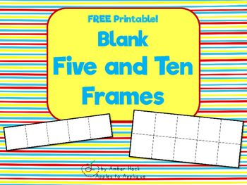 Blank Five And Ten Frame Printables  School  Math