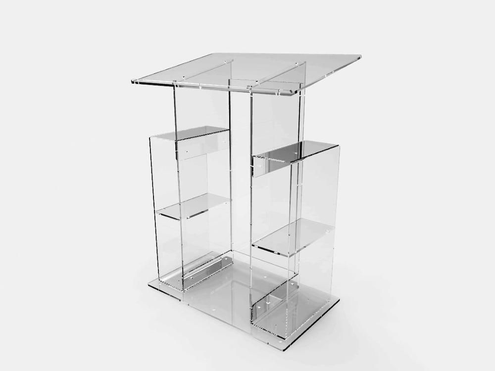 Fixture Displays Deluxe Plexiglass Acrylic Clear Podium Pulpit Lectern #Affiliate