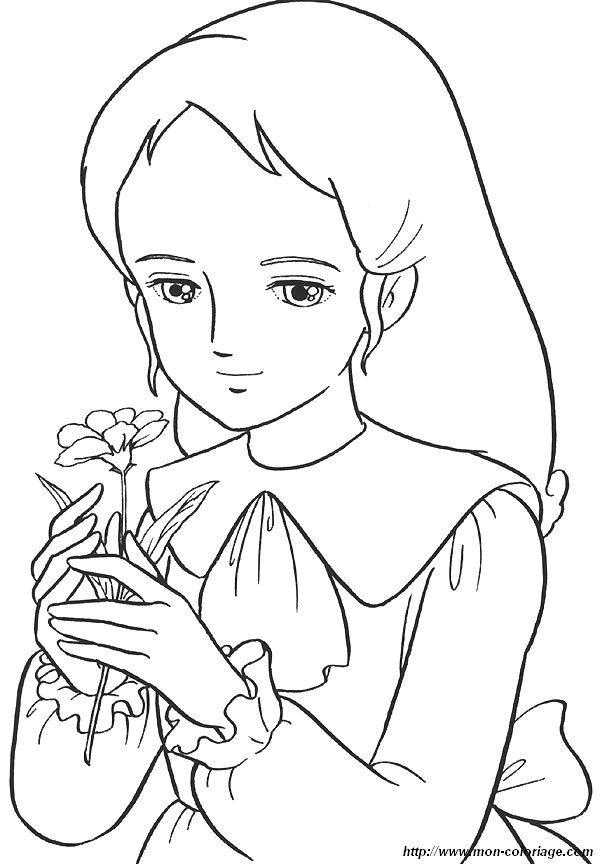 Princesse Sarah   Coloriage dessin animé, Coloriage ...