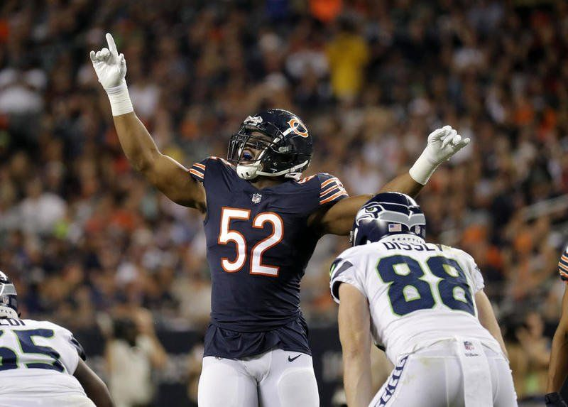 Khalil Mack Sports hero, Chicago bears, Bear photos