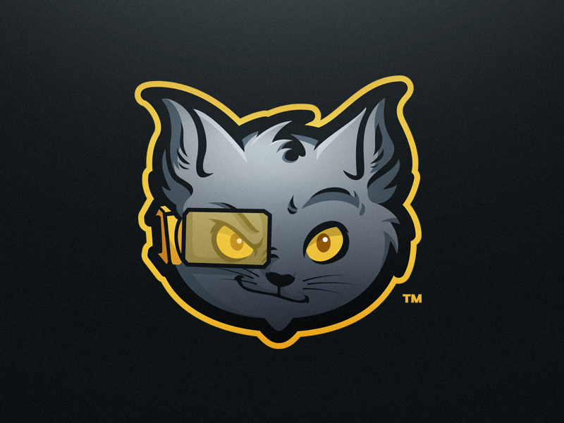 Vigour eSports Mascot Logo in 2020 Cat logo design