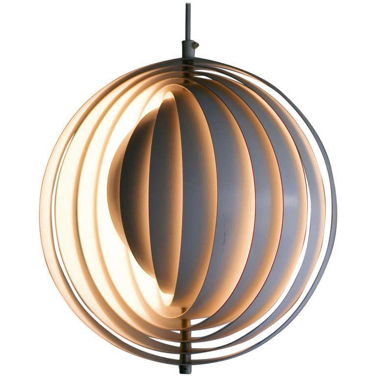 Original Moon Lamp Designed By Verner Panton In 1960 Lamp Design Diy Floor Lamp Lighting Design Interior