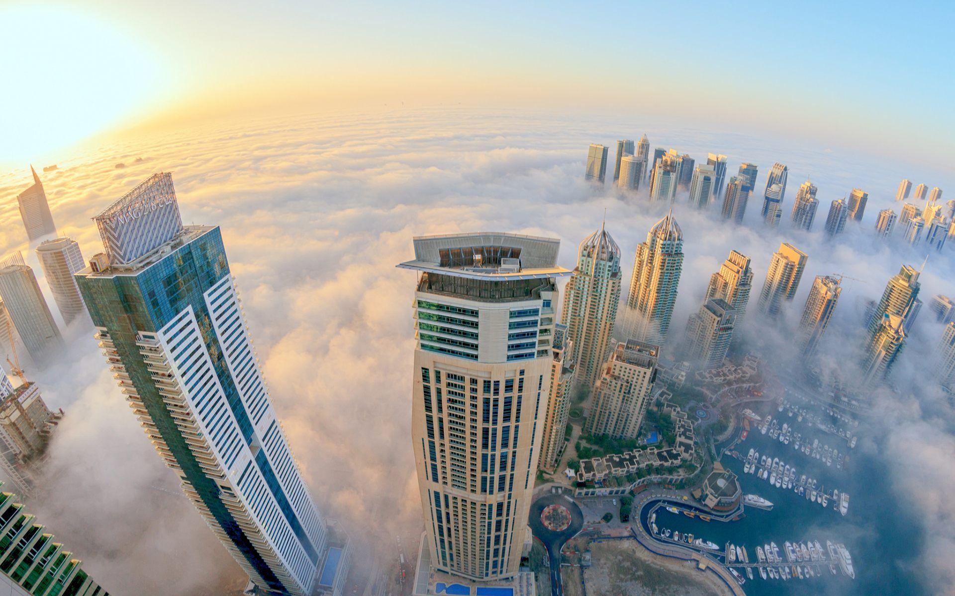 Dubai Marina Night City Wallpaper Hd For Desktop Mobile Dubai