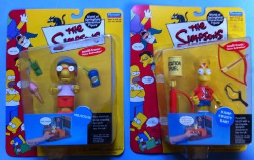 THE SIMPSONS WORLD OF SPRINGFIELD SERIES 3 KAMP KRUSTY BART AND MILHOUSE (2000)