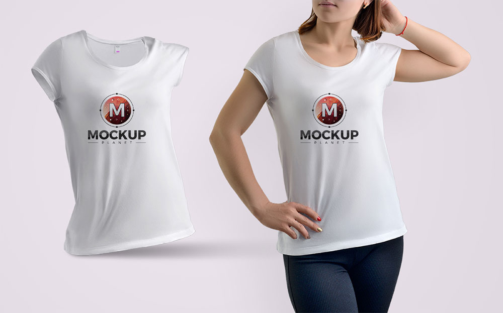 Download Girl Wearing T Shirt Free Mockup Shirt Mockup Free Shirts Tshirt Mockup