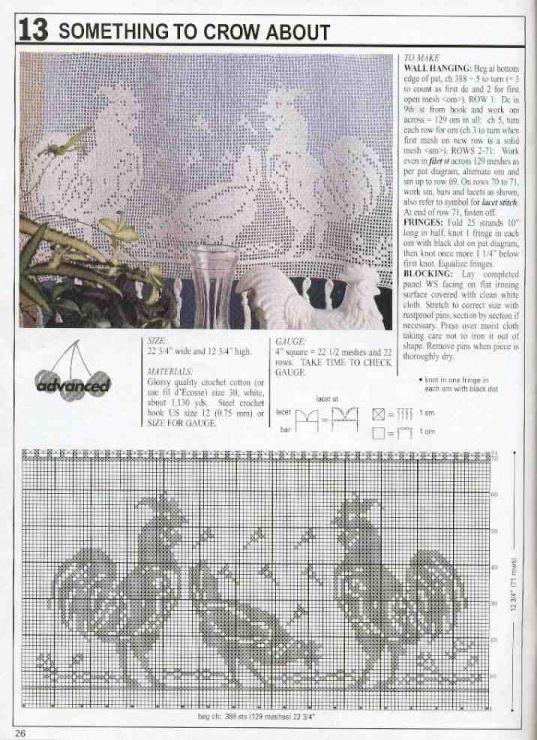 Gallery.ru / Фото #149 - Filet Crochet pour Point de Croix 2 ...