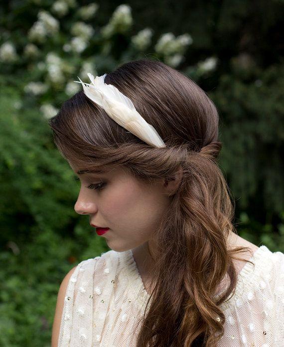 Elegant Ivory Cream Goose Feather Wedding by Foxandharedesign, $70.00