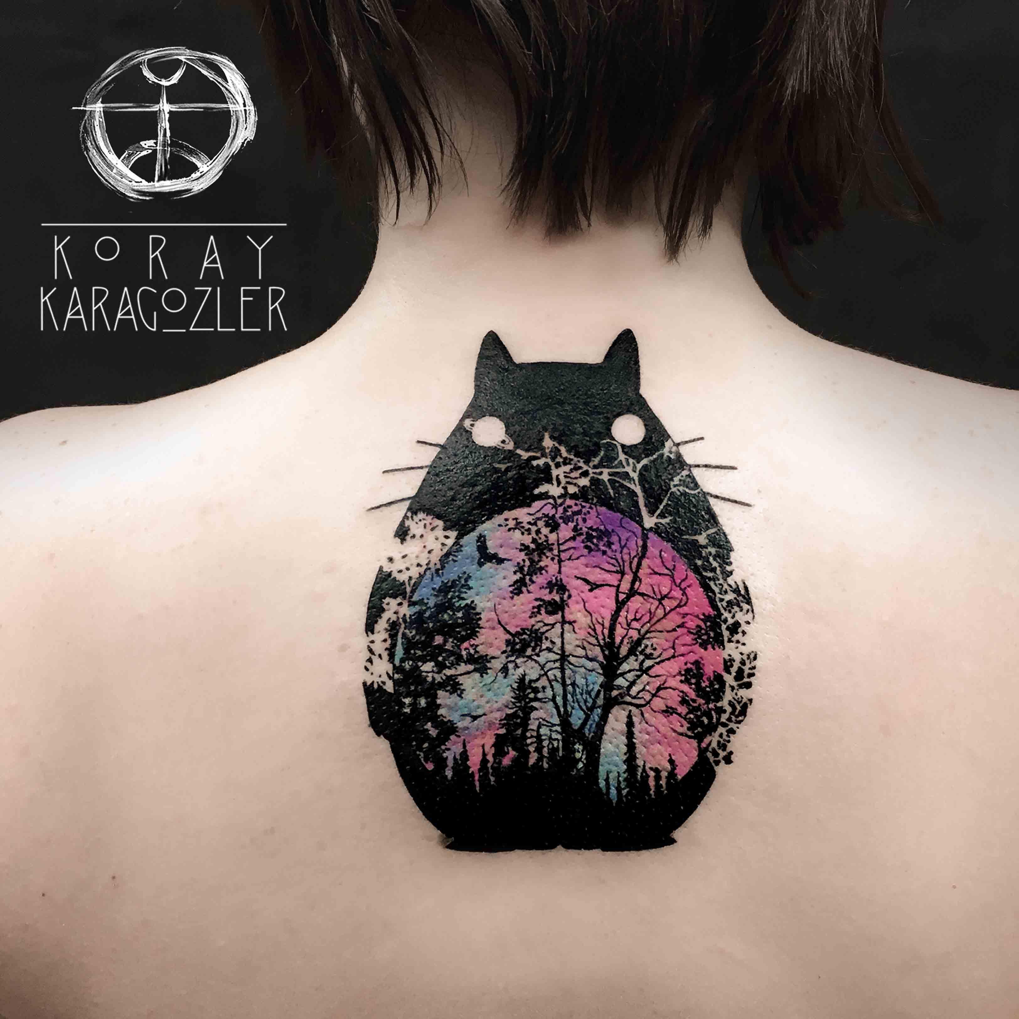 totoro by koray karag zler tattoo pinterest totoro tattoo and tatoo. Black Bedroom Furniture Sets. Home Design Ideas