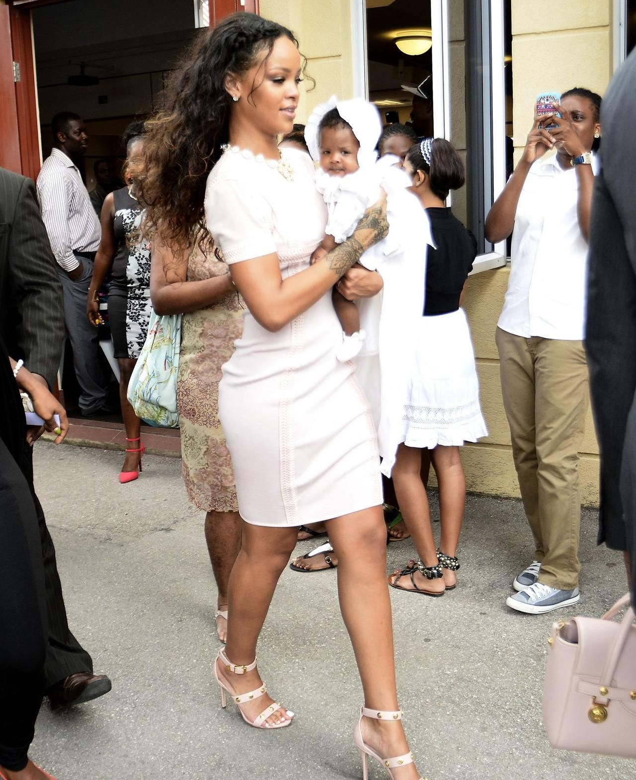 Rihanna at Majesty's Christening in Barbados