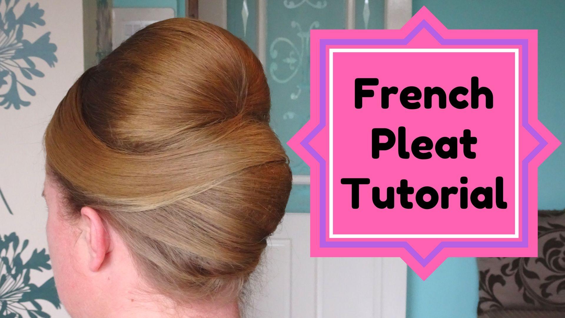 classic elegant french pleat roll twist wedding hair style full ...