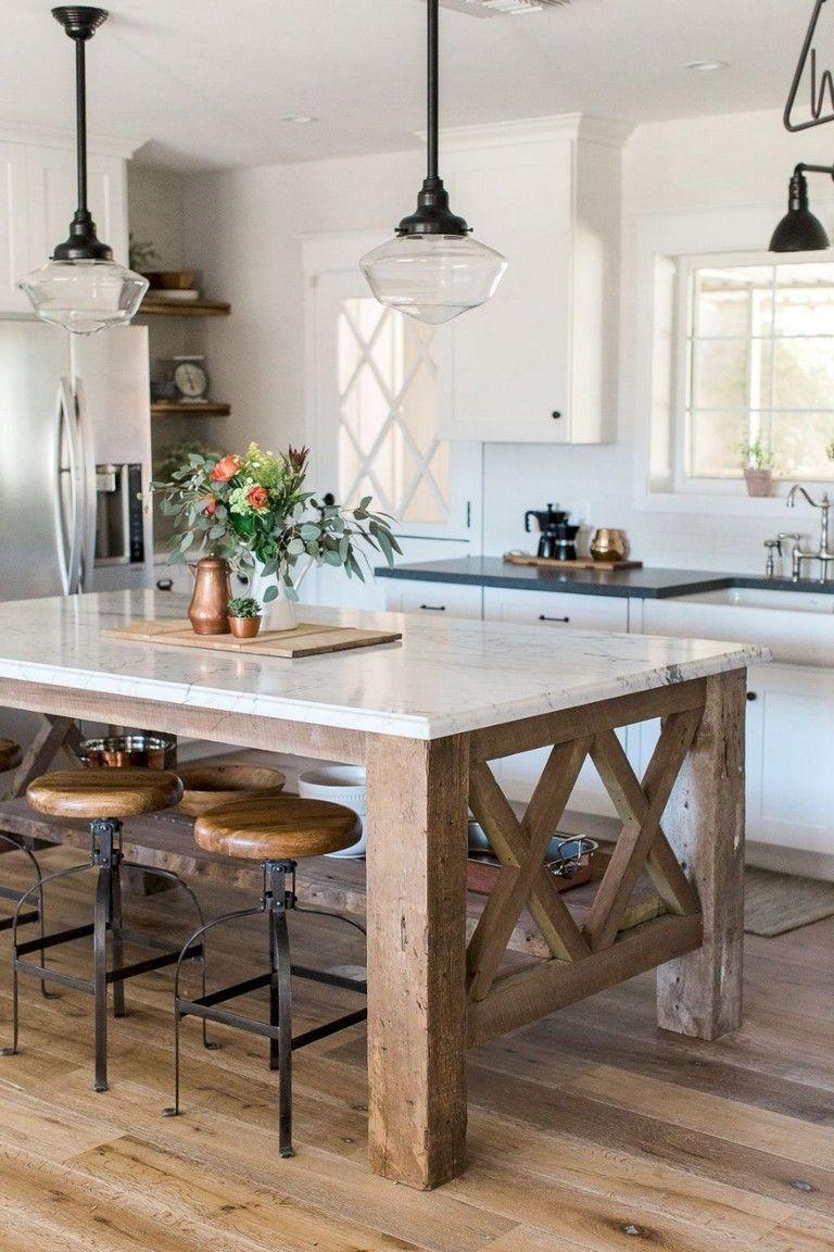 Stunning Rustic Kitchen Design Rustickitchendesign Rustickitchen Kitchendesign Farmhouse Style Kitchen Kitchen Island Decor Modern Kitchen Island Design