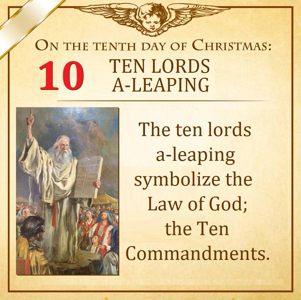 Tenth Day of Christmas   12 days of xmas, Catholic christmas, Christmas poems