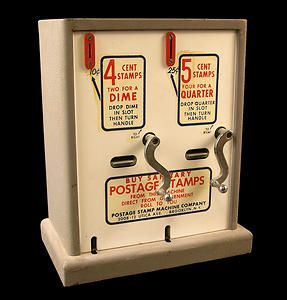 Two Slot Postage Stamp Vending Machine From The 1950s 60s