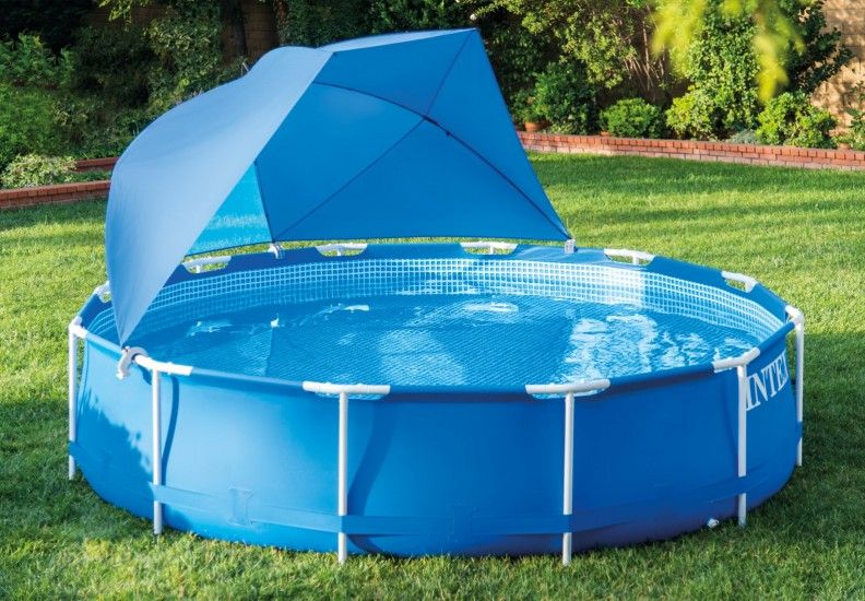 Pool Canopy   Pool   Pool canopy, Above ground pool ...