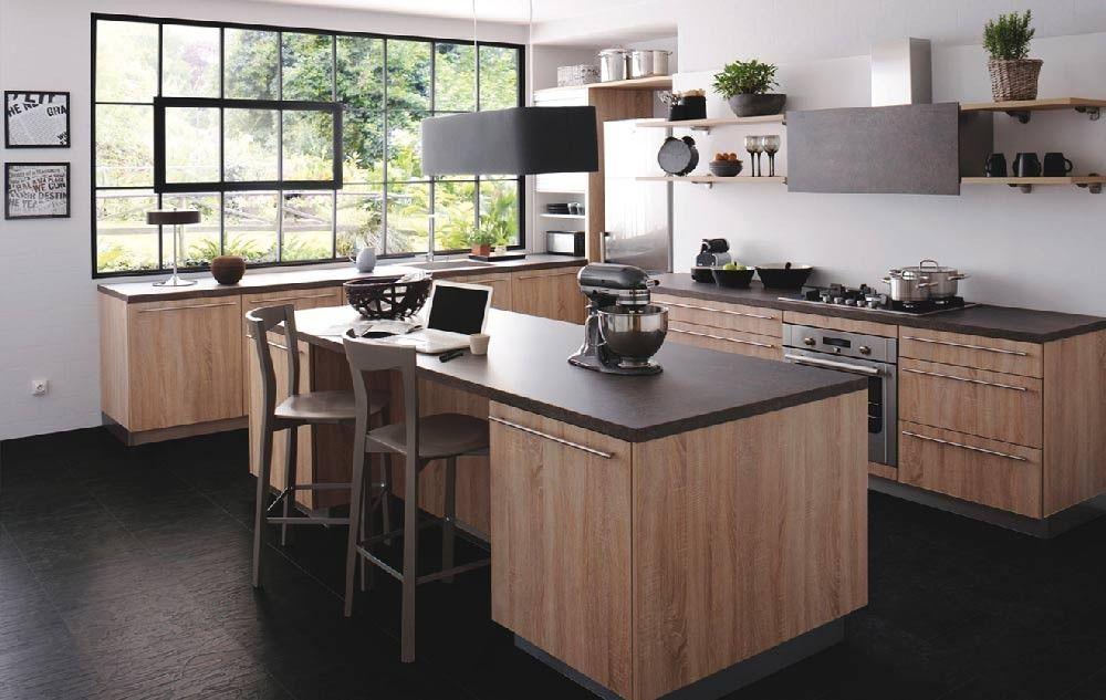 Meuble De Cuisine Tendance Le Bois With Images Home Kitchens