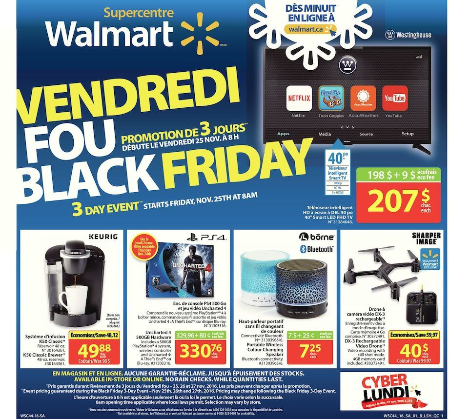 Circulaire Walmart Speciaux Promotions Rabais Semaine Promotion Black Friday Friday