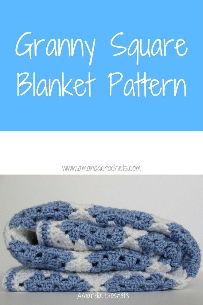 Granny Square Blanket Pattern | Crochet | Pinterest