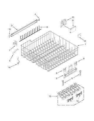 Kenmore Undercounter Dishwasher Parts Model 66513262k114 Sears