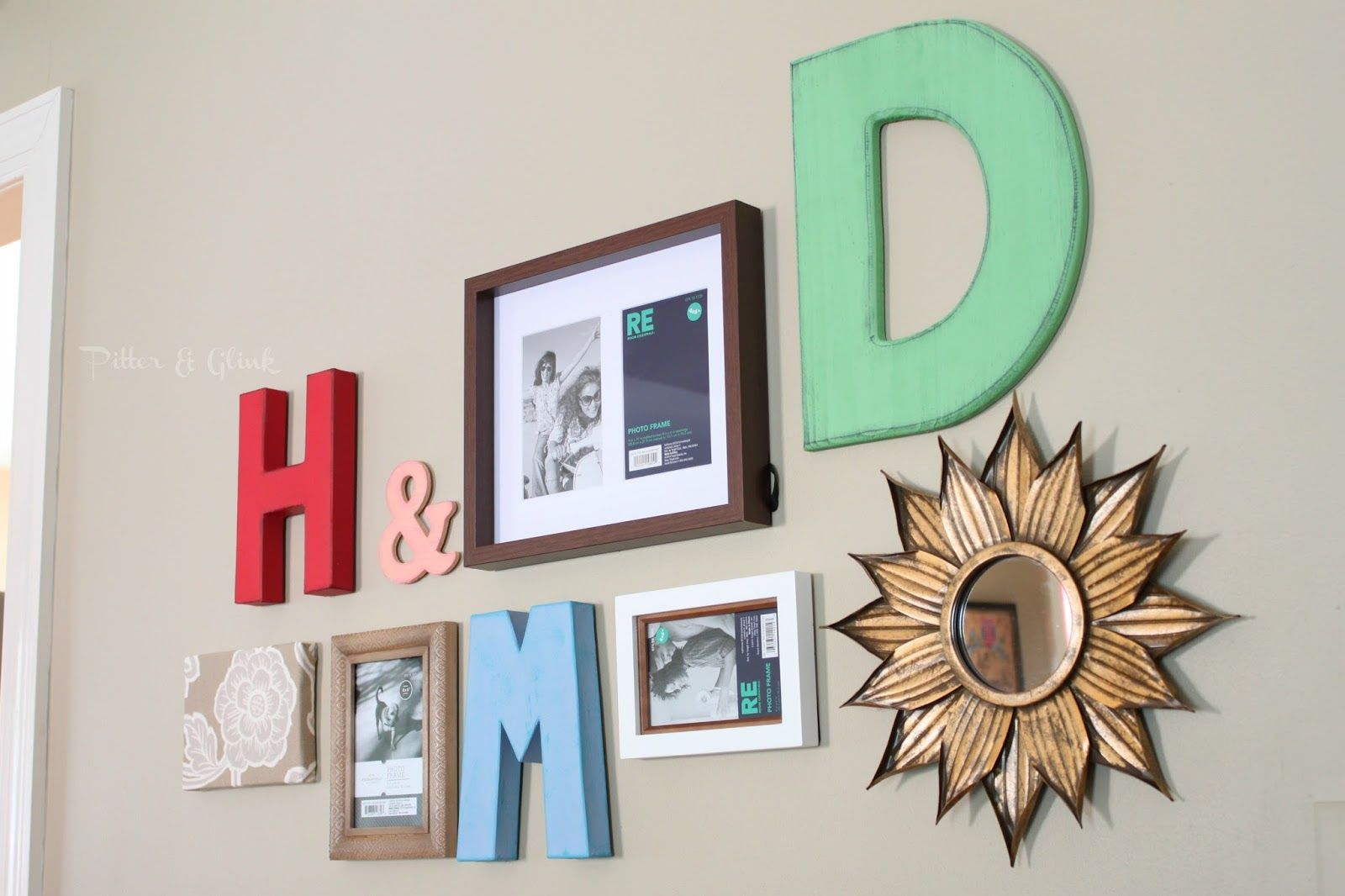 Create a beautiful gallery wall inexpensively with craft store items ...