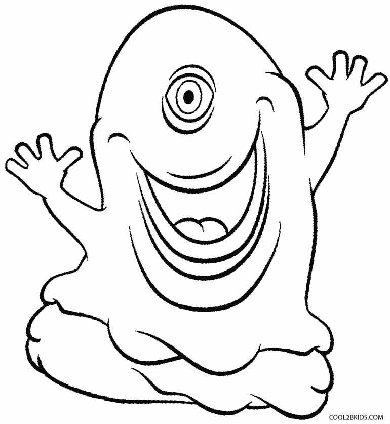 printable alien coloring pages for kids cool2bkids - Alien Coloring Page