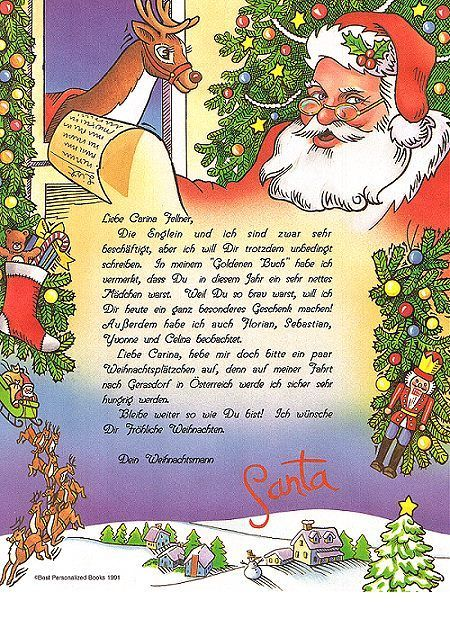 Der Brief Vom Weihnachtsmann Brief Vom Weihnachtsmann Weihnachtsbrief Bastelideen Kinder Weihnachten