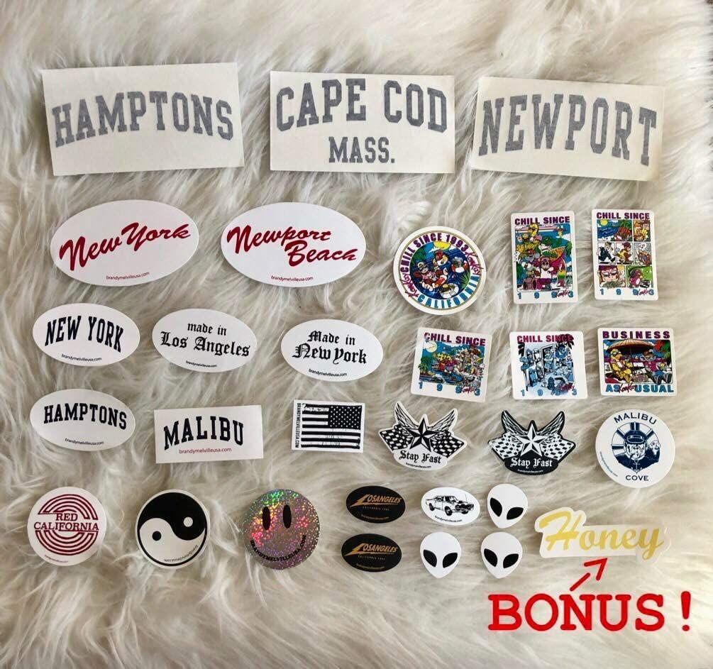 Navy Blue Small Circle Newport Beach Sticker Brandy Melville Sticker