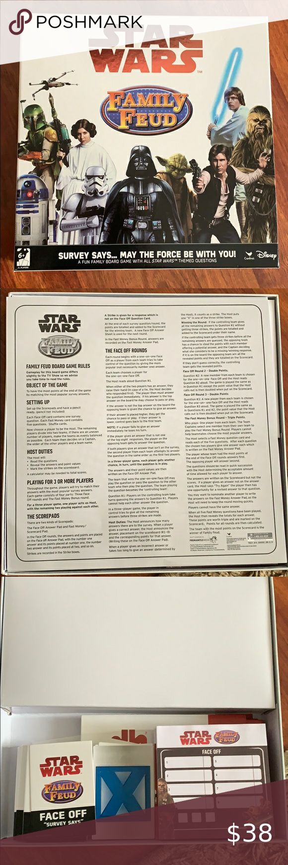 Star Wars family feud game Like new only played once