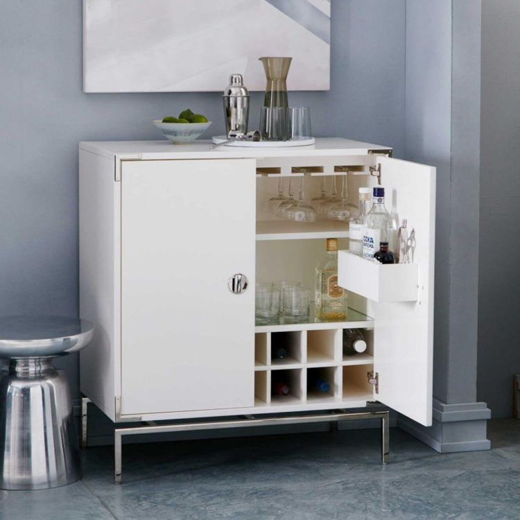 White Lacquer Drinks Cabinet From West Elm Mad About The House