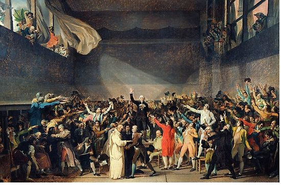 Tennis Court Oath Jacques Louis David French Revolution 1794 Poster By Justonedesign French Revolution Classical Art Memes French Revolution Facts