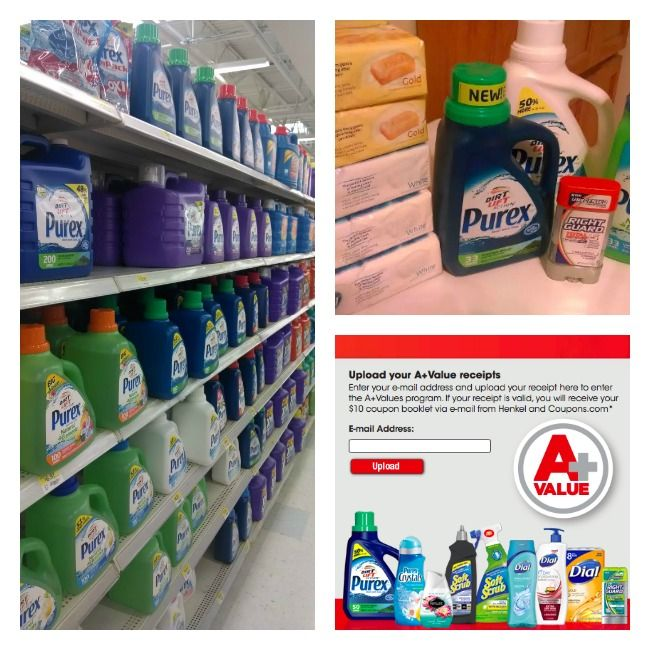 Snag a $10 coupon booklet when you spend  $20 on select Henkel Products!  #APlusValues #shop