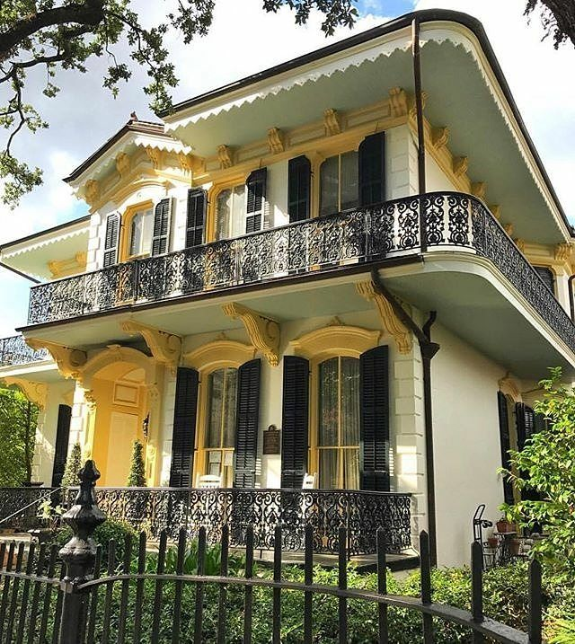 Nothing like a NOLA style home. #blacksouthernbelle  Image reposted from @visitneworleans  Yellow beautiful! The John T. Moore house has illuminated the Lower Garden District since 1880. Photo: @beyondbourbonst #followyournola