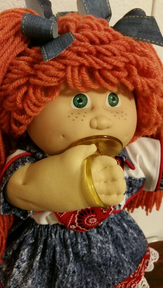 VTG JESMAR CABBAGE PATCH PACI FRECKLES RED POODLE REROOT WESTERN CLOTHES BOOTS #Dolls