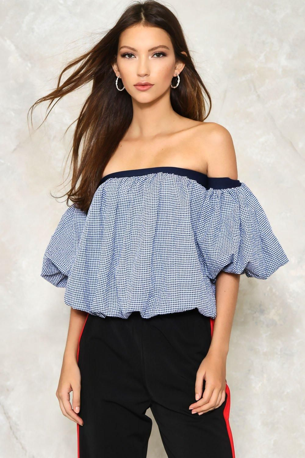 10b9fcfc45c12 The Huff and Puff Top features a gingham design