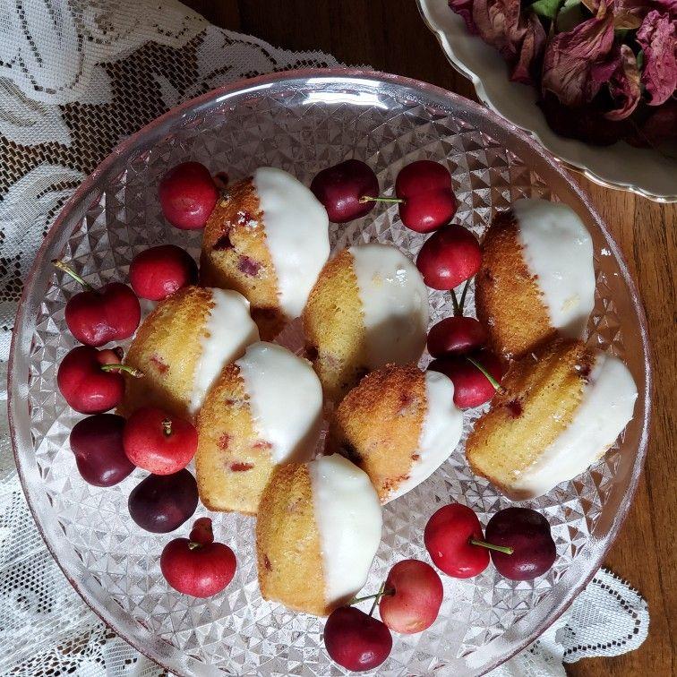 Cherry almond madeleines in 2020 cherry almond almond food