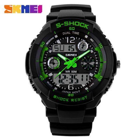 281c66fe398 Skmei Digital Men Watch Analog S Shock Men military army Watch water  resistant Date Calendar LED Sport Watches relogio masculino